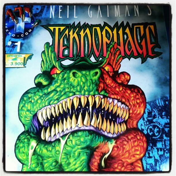 The Neil Gaiman's Teknophage @neilhimself in italiano grazie a @DanBrolli #ricordi