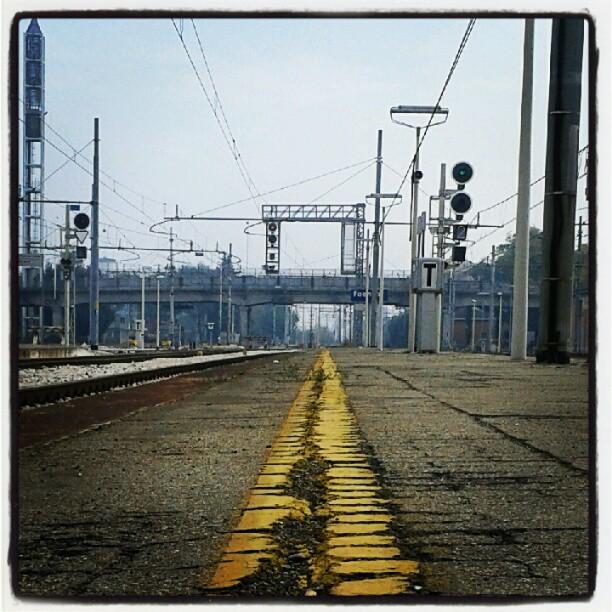 Quella lunga linea gialla che unisce le varie tappe... #vitapendolare